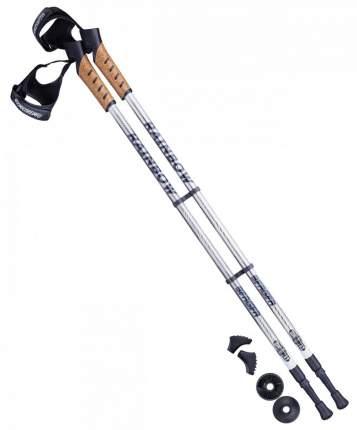 Палки для скандинавской ходьбы Berger Rainbow, 77-135 см, 2-секционные, серый/белый