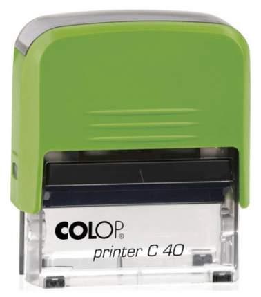 Оснастка для печати Colop C40 Compact Transparent. Цвет корпуса: киви.