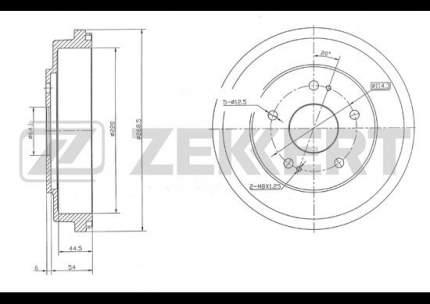 Тормозной барабан ZEKKERT BS-5156