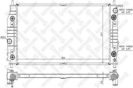 Радиатор охлаждения двигателя STELLOX 10-25281-SX
