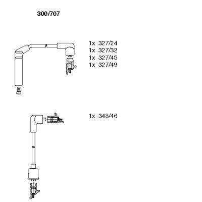 Комплект проводов зажигания BREMI 300/707