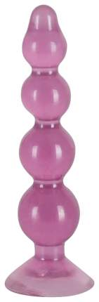 Розовый анальный стимулятор-ёлочка Anal Beads - 13 см