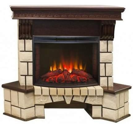 Электрокамин с термостатом Real-Flame Stone new 25 с очагом Evrika 25,5 LED