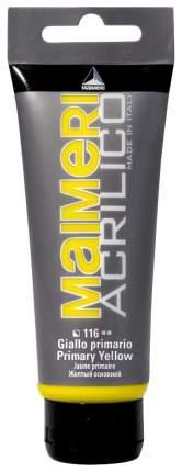 Акриловая краска Maimeri Acrilico M0924116 желтый основной 200 мл