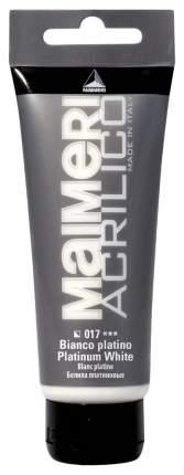 Акриловая краска Maimeri Acrilico M0916017 белила платиновые 75 мл