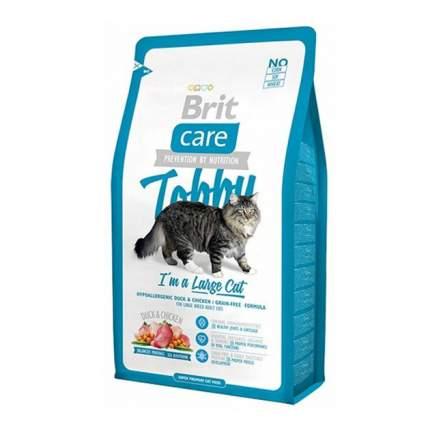 Сухой корм для кошек Brit Care Tobby, для крупных пород, утка, 2кг