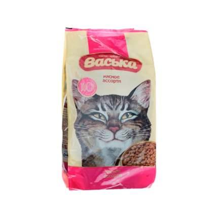 Сухой корм для кошек Васька, для профилактики МКБ, мясное ассорти, 0,4кг