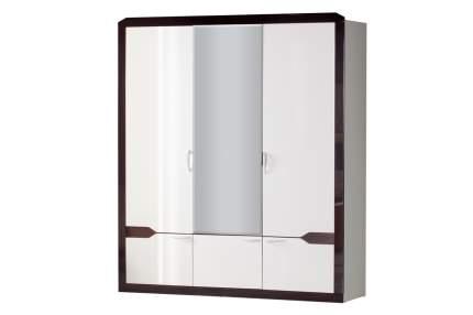 Платяной шкаф Hoff Ронда 80318742 188х215.4х51.6, венге/венге глянец