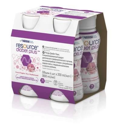 Смесь жидкая Resource Diabet Plus со вкусом клубники 4 шт х 200 мл