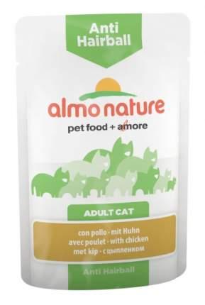 Влажный корм для кошек Almo Nature Holistic Anti Hairball, курица, 70г