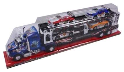 Инерционный автовоз Shantou Gepai с 4 машинами
