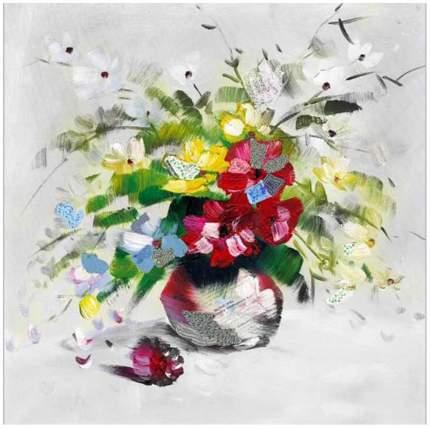 Репродукция 30х30 см Hoff Букет цветов