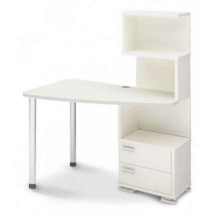 Компьютерный стол Мэрдэс Домино нельсон СКМ-60 MER_SKM-60_BE-LEV, белый жемчуг