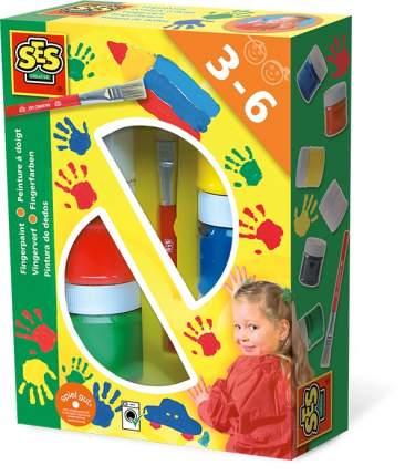 Пальчиковые краски 6 цветов SES Creative 00306