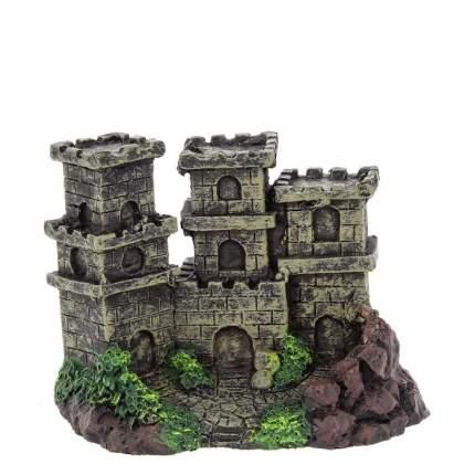 Декорация для аквариума PRIME Замок с тремя башнями пластиковая, 12 х 8 х 8,5 см