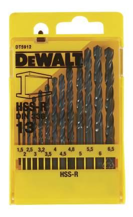 Набор сверл по металлу для дрелей, шуруповертов DeWALT DT5912-QZ