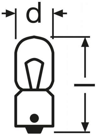 Лампа накаливания автомобильная OSRAM 12V T2W (3796)