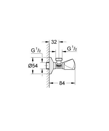 Угловой вентиль 1/2″ на 1/2″ GROHE