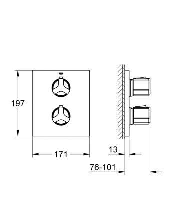 Смеситель для встраиваемой системы Grohe Allure 19380000 серебристый