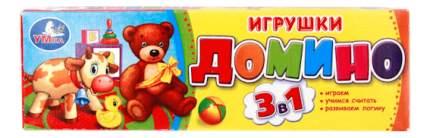 Семейная настольная игра Умка Домино Игрушки