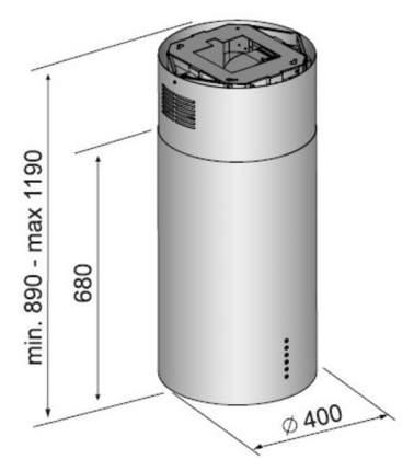 Вытяжка островная Korting KHA 4970 X Cylinder Silver