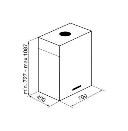 Вытяжка островная Korting KHA 7950 X Cube Silver