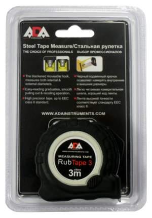 Рулетка ударопрочная ADA RubTape 3 с полимерным покрытием ленты