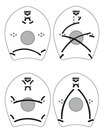 Лопатки для плавания Arena Elite Hand Paddle 95250 желтые (65) L