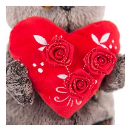 Мягкая игрушка BUDI BASA Ks25-060 Басик с красным сердечком 25 см