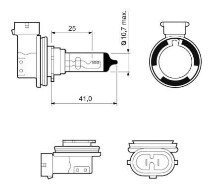 Лампа галогенная VALEO 55W PGJ19-2 32525