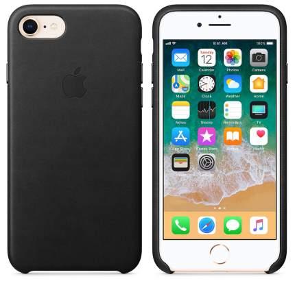Кейс для Apple iPhone 8 / 7 Leather Case Black (MQH92ZM/A)