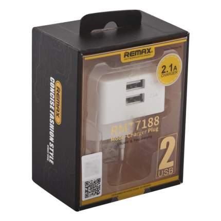 Сетевое зарядное устройство REMAX Moon Series RP-22 2 USB 2,1A White