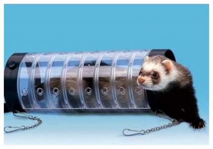 Тоннель для грызунов Ferplast пластик, 10х29 см, цвет прозрачный, синий