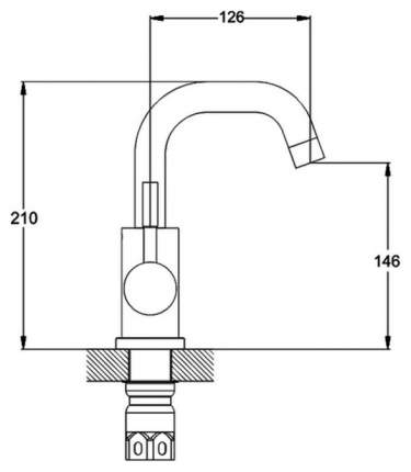 Смеситель для раковины G.lauf ZAP1-A090
