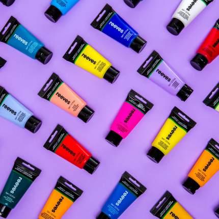 Акриловая краска Reeves Acrylic colour мерцающий белый 75 мл