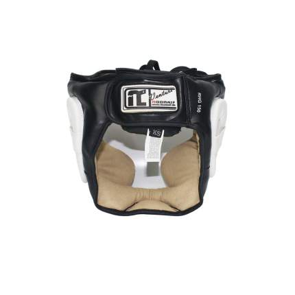Шлем боксерский RHG-150 PL черно-белый, размер S