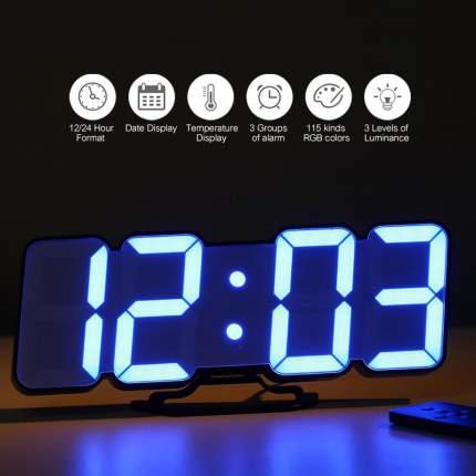 Электронные многоцветные RGB часы li&tai SLT-9001 (black)