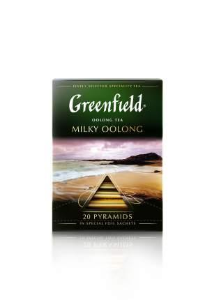 Чай зеленый Greenfield в пирамидках milky oolong 20 пакетиков