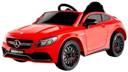 """Электромобиль """"MERCEDES-BENZ C63 S AMG"""", окраска красный, EVA колеса Sima-Land"""
