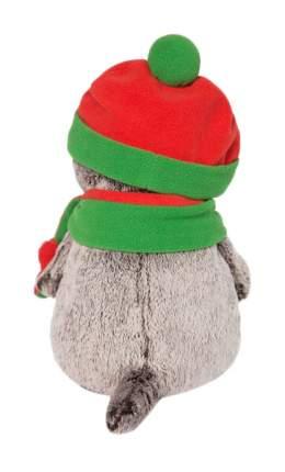 """Мягкая игрушка """"Басик"""" в оранжево-зелёной шапке и шарфике, 19 см Басик и Ко"""
