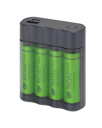 Зарядное устройство - внешний аккумулятор GP X411 + аккумулятор АА (HR6) 2600 мАч, 4 шт