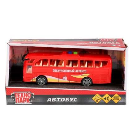 Автобус Технопарк пластиковый со световыми и звуковыми эффектами 17 см