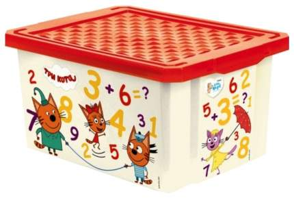 Ящик для игрушек Little Angel Три Кота Обучайка. Считай 17 л