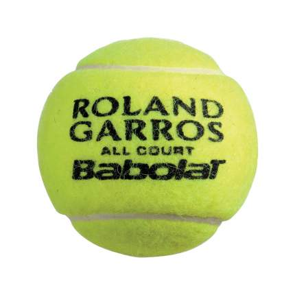 Мяч теннисный Babolat French Open All Court, желтый