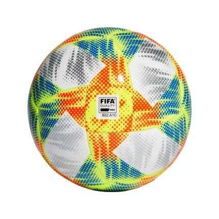 Футбольный мяч Adidas Conext 19 Praia №5 white/solar yellow/solar red/footbal blue