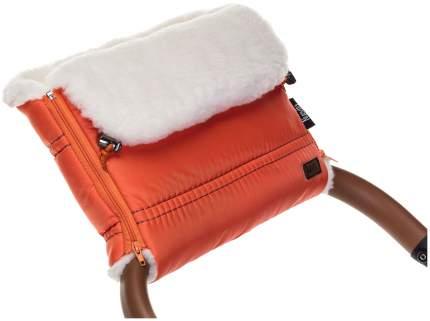 Муфта меховая для коляски Nuovita Alpino Bianco оранжевая