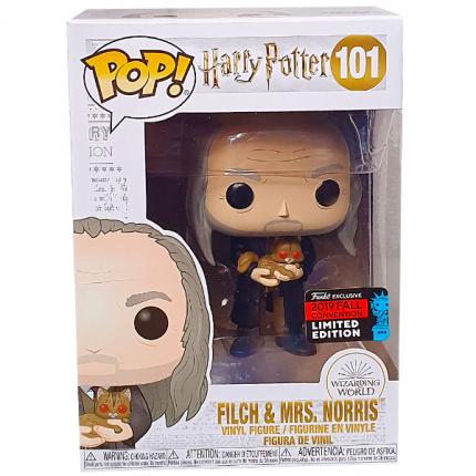 Фигурка Funko POP! Movies: Harry Potter: Filch with Mrs Norris Exc