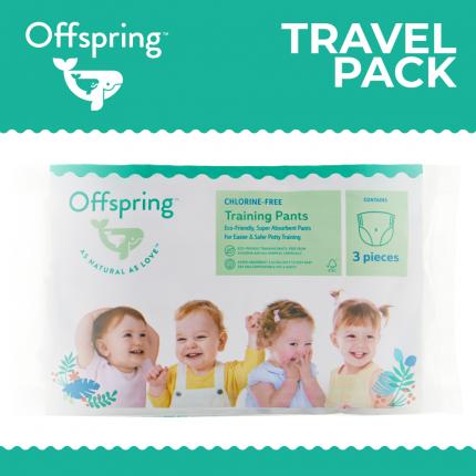 Подгузники-трусики Offspring Travel pack, M 6-11 кг. 3 шт. 3 расцветки
