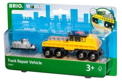 Мастерская Поезд ремонтной бригады с грузом деревянной железной дороги BRIO свет 33897