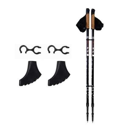 Палки для скандинавской ходьбы Gess Basic Walker, черный, 80-135 см